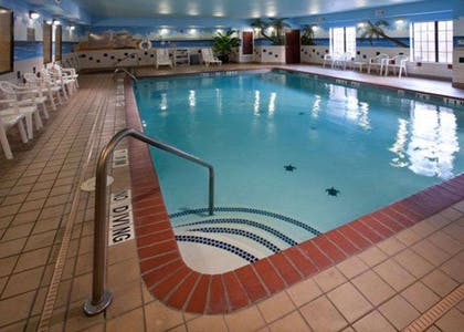 Indoor pool with hot tub   Quality Inn & Suites, Near University