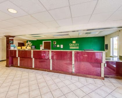 Front desk with friendly staff   Quality Inn & Suites