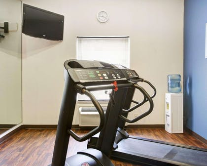 Fitness center with television | Comfort Suites University Drive