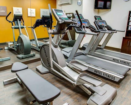 Fitness center with cardio equipment | Comfort Suites Tyler South