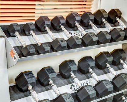 Fitness center with free weights | Comfort Suites Tyler South