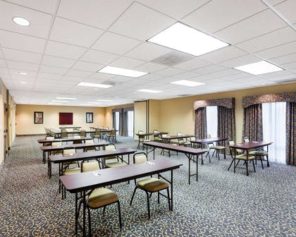 Meeting room with classroom-style setup | Comfort Inn And Suites Airport