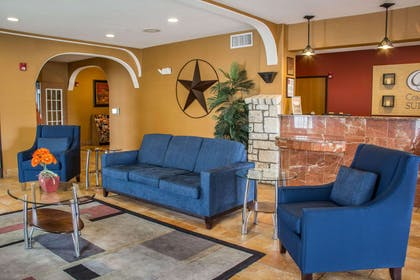 Spacious lobby with sitting area | Comfort Suites Near Seaworld