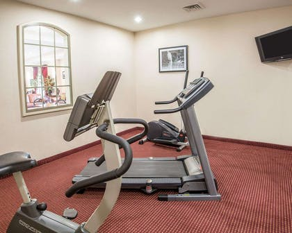 Fitness center with cardio equipment | Econo Lodge Inn & Suites Beaumont
