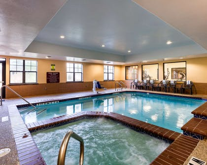 Relax in the hot tub | Comfort Suites near NASA - Clear Lake