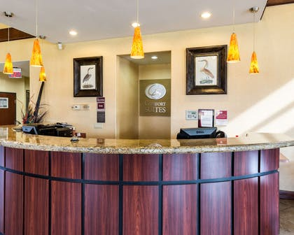Front desk with friendly staff | Comfort Suites near NASA - Clear Lake