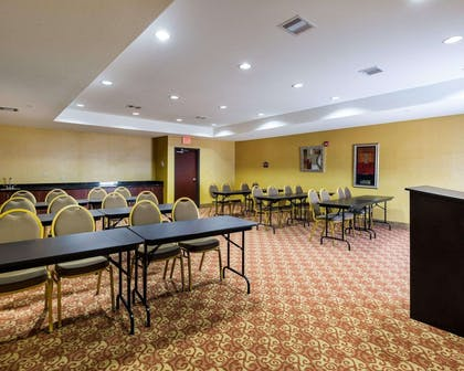 Meeting room with classroom-style setup | Comfort Suites Pearland / South Houston