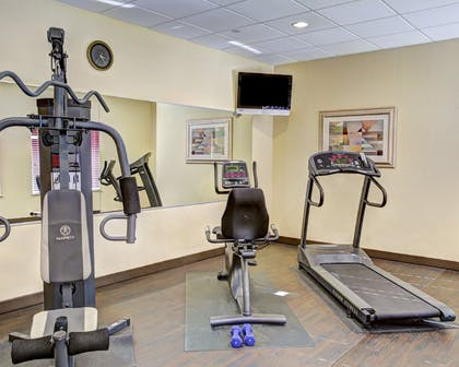 Fitness center with cardio equipment | Quality Suites