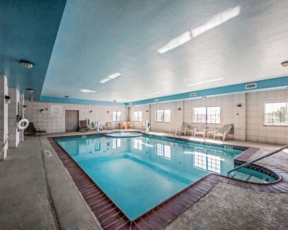 Indoor heated pool | Sleep Inn And Suites Shamrock