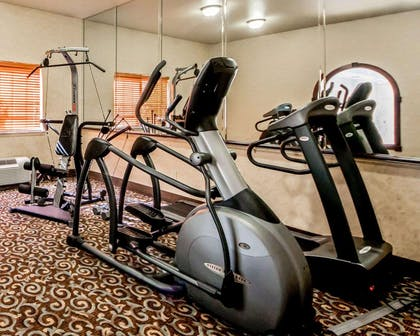 Fitness center with cardio equipment | Sleep Inn And Suites Shamrock