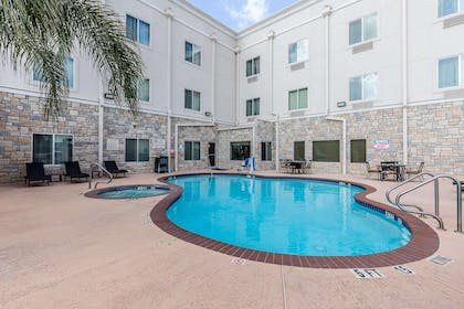 Indoor pool with hot tub | Comfort Suites Houston IAH Airport - Beltway 8