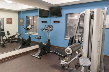 Exercise room with cardio equipment   Comfort Suites Hobby Airport