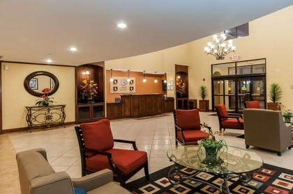 Spacious lobby with sitting area   Comfort Suites Hobby Airport