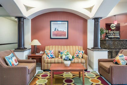 Spacious lobby with sitting area | Clarion Inn & Suites Weatherford South
