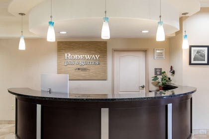 Front desk with friendly staff | Rodeway Inn & Suites