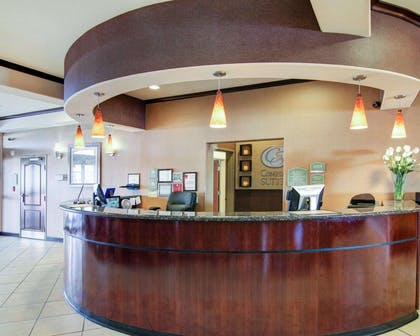 Front desk with friendly staff | Comfort Suites Fort Stockton