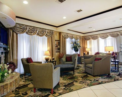 Spacious lobby with sitting area | Comfort Suites Fort Stockton