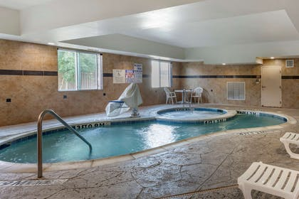Indoor pool with hot tub   Comfort Suites Plano East - Richardson