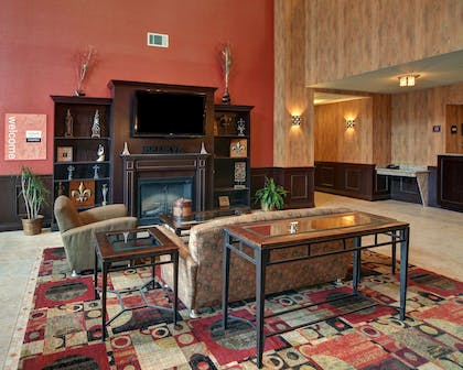 Sitting area with fireplace | Comfort Inn & Suites Near Lake Lewisville