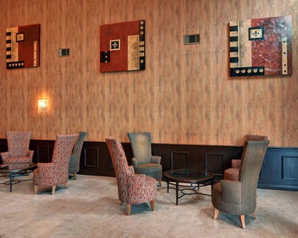 Spacious lobby with sitting area | Comfort Inn & Suites Near Lake Lewisville