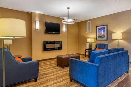 Lobby with sitting area | Comfort Suites San Antonio North - Stone Oak