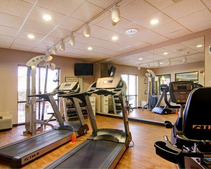 Exercise room with cardio equipment | Comfort Suites El Paso West