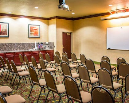 Meeting room with theater-style setup | Sleep Inn & Suites at Six Flags