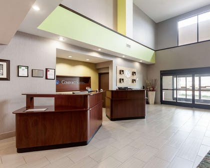 Front desk with friendly staff | Comfort Suites Greenville