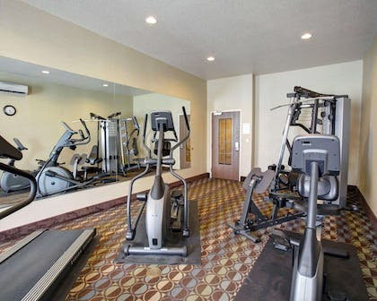 Exercise room with cardio equipment | Comfort Inn & Suites Selma near Randolph AFB