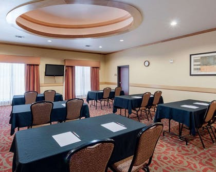 Meeting room with classroom-style setup | Comfort Suites