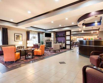 Spacious lobby with sitting area | Comfort Suites Pecos