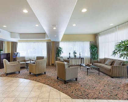Lobby with sitting area | Comfort Suites Medical Center near Six Flags