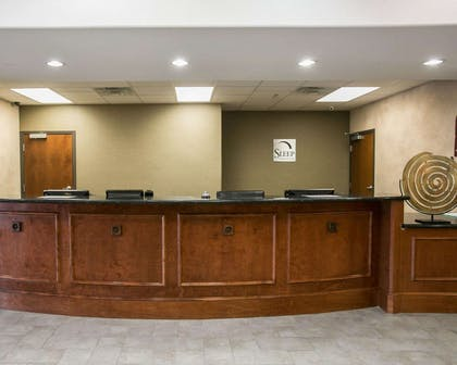 Front desk with friendly staff | Sleep Inn & Suites Highway 290/NW Freeway