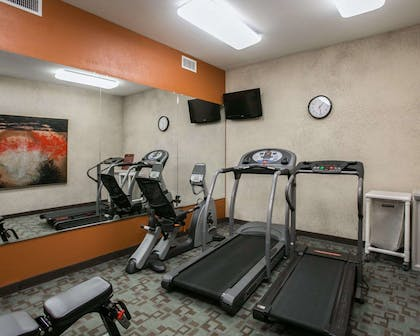 Fitness center with television | Sleep Inn & Suites Highway 290/NW Freeway