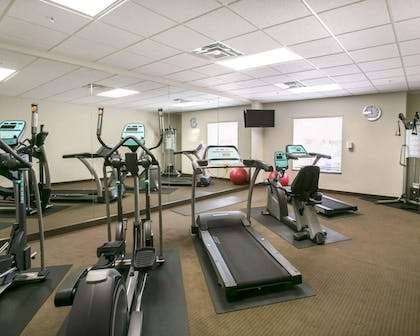 Fitness center with television | Sleep Inn & Suites Austin Northeast