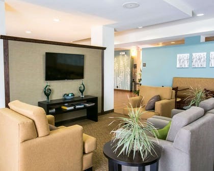 Spacious room with flat-screen television | Sleep Inn & Suites Austin North I-35