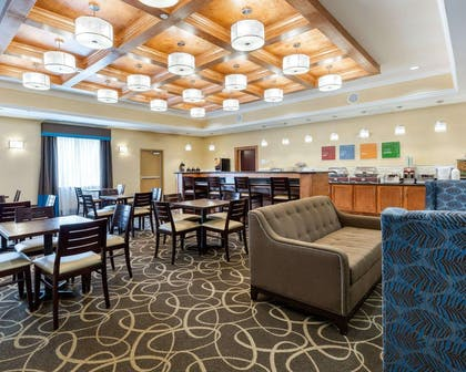 Breakfast area in the lobby | Comfort Suites at Katy Mills