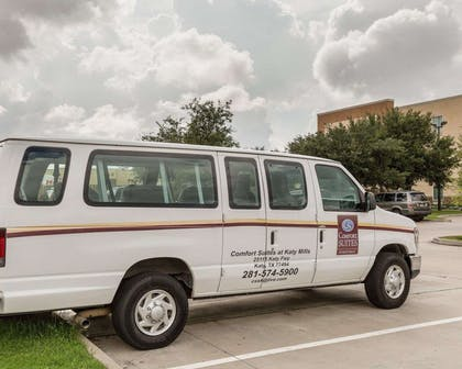 Hotel shuttle available | Comfort Suites at Katy Mills