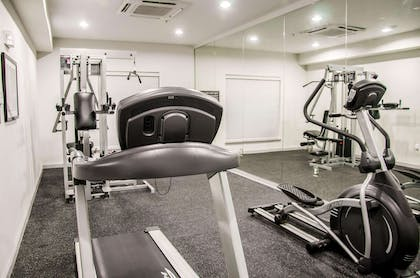 Fitness center with cardio equipment and weights   Sleep Inn And Suites Center