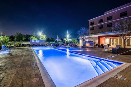 Hotel pool at night | Cambria Hotel McAllen Convention Center