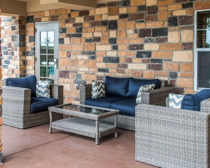 Relaxing patio area | Mainstay Suites