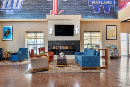 Lobby with sitting area | Comfort Suites University