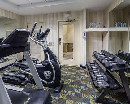 Fitness center with cardio equipment and weights | Comfort Inn & Suites Southwest Fwy at Westpark