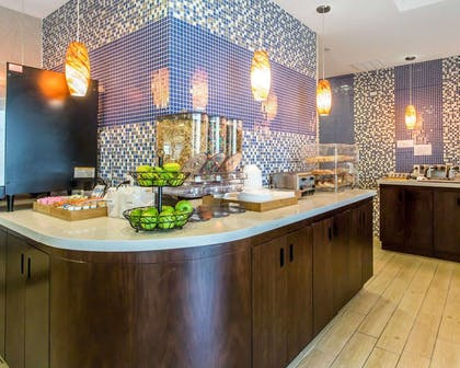 Breakfast area in the lobby | Mainstay Suites