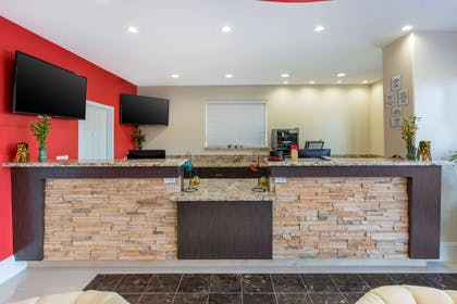 Front desk with friendly staff | Econo Lodge Inn & Suites Houston Willowbrook