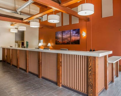 Front desk with friendly staff | Quality Inn Springdale at Zion Park