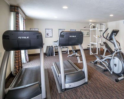 Exercise room with cardio equipment | Comfort Inn Downtown