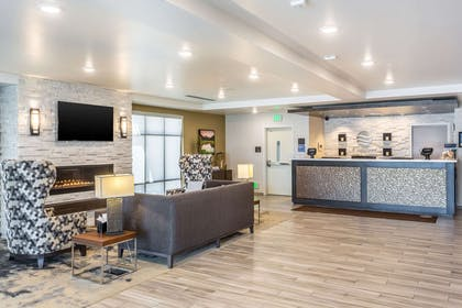 Spacious lobby with sitting area | Comfort Inn & Suites Salt Lake City Airport