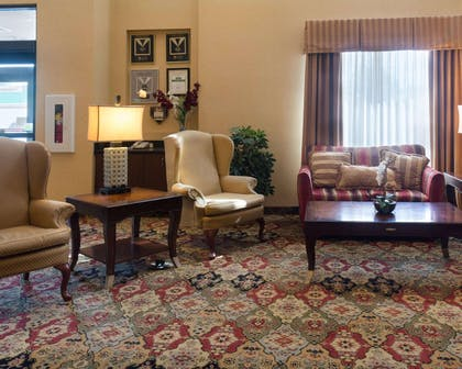 Spacious lobby with sitting area | Comfort Suites Fredericksburg North