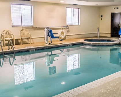 Indoor pool with hot tub | Sleep Inn & Suites Monticello